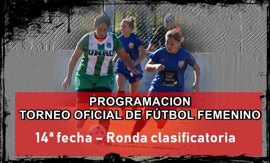 PROGRAMACIÓN Horarios y Canchas 14ª fecha – Ronda clasificatoria Rio ...